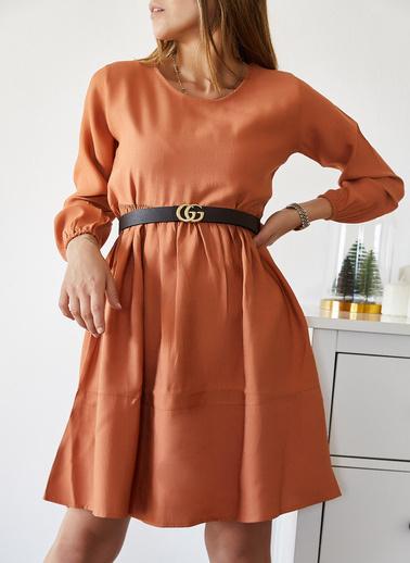 XHAN Bloklu Elbise 9Kxk6-43303-16 Kiremit